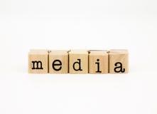 Concetto di formulazione, di comunicazione e di affari di media Immagine Stock