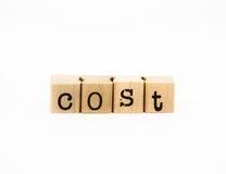 Concetto di formulazione di costo, finanziario e di affari Immagine Stock