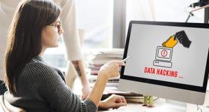 Concetto di frode di Phishing di cibercrimine di spyware del pirata informatico fotografia stock
