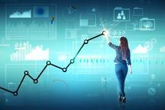 Concetto di futuro, dell'innovazione e di finanza Fotografie Stock