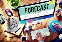 Concetto di futuro di probabilità di precisione di previsione di previsione fotografia stock libera da diritti