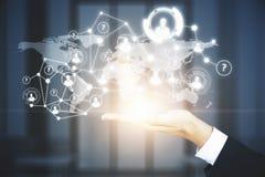 Concetto di futuro e dell'innovazione Fotografie Stock