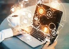 Concetto di futuro e dell'innovazione immagini stock libere da diritti