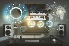Concetto di futuro e dell'innovazione royalty illustrazione gratis