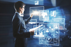 Concetto di futuro e di tecnologia illustrazione di stock
