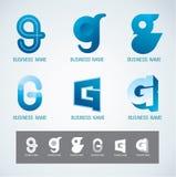 Concetto di G di progettazione di simbolo e di logo Immagine Stock