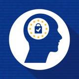 Concetto di GDPR Regolamento generale di protezione dei dati Nuova legge di UE dal 2018 royalty illustrazione gratis