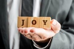Concetto di gioia nella vita ed in posto di lavoro fotografie stock