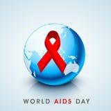 Concetto di Giornata mondiale contro l'AIDS con il nastro di consapevolezza Fotografia Stock