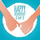Concetto di giorno di amicizia promesse delle dita, illustrazione di vettore delle azione di promessa di mignolo progettazione de royalty illustrazione gratis