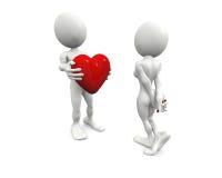 Concetto di giorno del biglietto di S. Valentino illustrazione di stock
