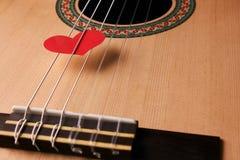 Concetto di giorno del ` s del biglietto di S. Valentino e di musica di amore Fotografia Stock