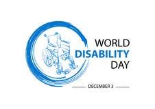 Concetto di concetto di giorno di inabilità del mondo
