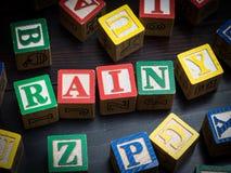 Concetto di giorno piovoso Fotografie Stock Libere da Diritti
