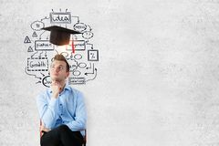 Concetto di graduazione Immagine Stock