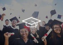 Concetto di graduazione di saggezza di conoscenza di istruzione del bordo del mortaio Immagine Stock Libera da Diritti