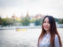 Concetto di gradutation e dello studente da bello girl20s asiatico a Fotografia Stock