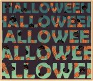 Concetto di Halloween - lettere non separate! Royalty Illustrazione gratis
