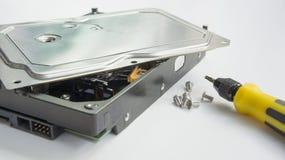 Concetto di hardware dell'annotazione di risparmi dell'archivio del disco rigido di HDD fotografia stock libera da diritti