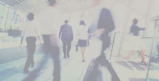 Concetto di Hong Kong Business People Commuting Immagine Stock