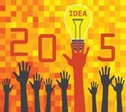 concetto 2015 di idea Illustrazione di Stock