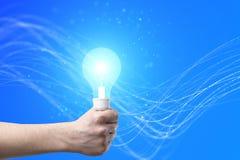 Concetto di idea con la lampadina Fotografie Stock Libere da Diritti