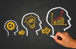 Concetto di idea, di lavoro di squadra e di affari immagini stock libere da diritti