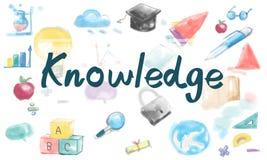 Concetto di idee di studio di saggezza di intelligenza di conoscenza Fotografia Stock Libera da Diritti