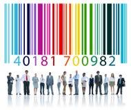 Concetto di identità di codifica di crittografia di codice a barre fotografie stock