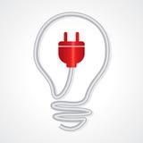 Concetto di illuminazione e di elettricità Immagine Stock Libera da Diritti