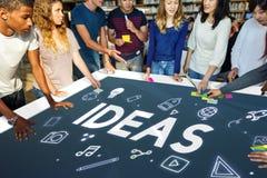 Concetto di immaginazione di pensiero creativo di idee Immagine Stock Libera da Diritti