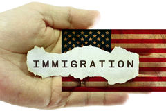 Concetto di immigrazione Fotografia Stock Libera da Diritti