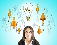Concetto di imprenditorialit? e di partenza fotografia stock