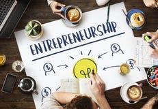 Concetto di impresa del magnate di imprenditorialità piccolo immagini stock libere da diritti