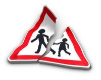 Concetto di incidente stradale Fotografie Stock