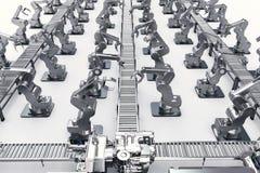 Concetto di industria di automazione Fotografie Stock Libere da Diritti