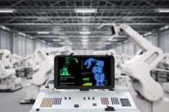 Concetto di industria di automazione Fotografia Stock Libera da Diritti