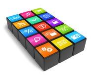 Concetto di industria di Smartphone Immagine Stock