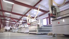 Concetto di industria di produzione, di fabbricazione e di falegnameria stock footage