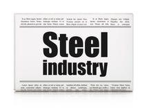 Concetto di industria: industria siderurgica del titolo di giornale illustrazione vettoriale