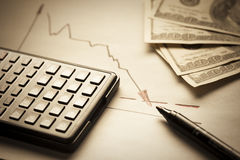 Concetto di inflazione del dollaro Immagine Stock