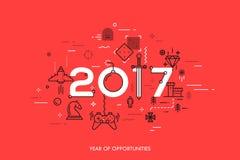 Concetto di Infographic 2017 anni di opportunità Fotografia Stock