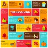 Concetto di Infographic di ringraziamento Immagini Stock