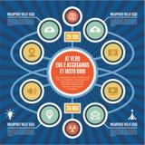 Concetto di Infographic - schema di affari - modello moderno Immagine Stock