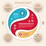 Concetto di Infographic - schema di vettore Fotografie Stock Libere da Diritti