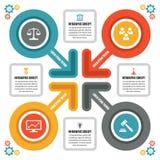 Concetto di Infographic - schema di vettore con le icone Immagini Stock