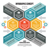 Concetto di Infographic - schema di vettore con le icone Fotografie Stock Libere da Diritti