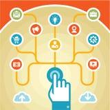Concetto di Infographic - touchpad Fotografia Stock