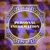Concetto di informazione personale. Progettazione d'annata. Immagine Stock Libera da Diritti