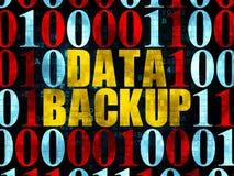 Concetto di informazioni: Backup dei dati su Digital Fotografia Stock Libera da Diritti